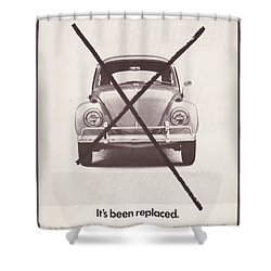 It's Been Replaced Shower Curtain by Georgia Fowler