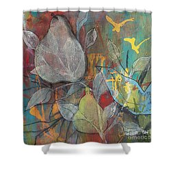 It's Electric Shower Curtain by Robin Maria Pedrero