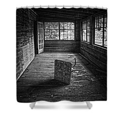 Shower Curtain featuring the photograph It's Empty Now by Debra Fedchin