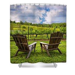 It's Happy Hour Shower Curtain by Debra and Dave Vanderlaan