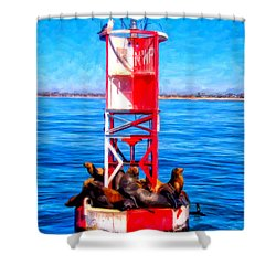 It's Lonely At The Top Shower Curtain by Michael Pickett