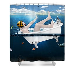 Its Not The Time  Shower Curtain by Mark Ashkenazi