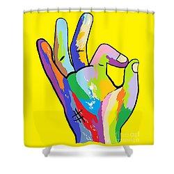 It's Ok Shower Curtain by Eloise Schneider