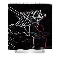 Shower Curtain featuring the photograph It's Only Dangerous On The Solos by Bartz Johnson