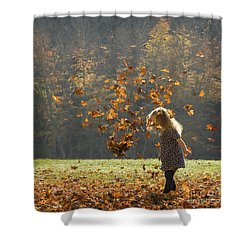 It's Raining Leaves Shower Curtain