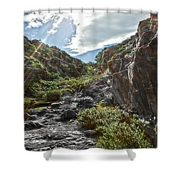 Shower Curtain featuring the photograph Its Raining Rainbows by Miroslava Jurcik