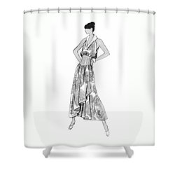 It's Sarong It's Right Shower Curtain by Sarah Parks
