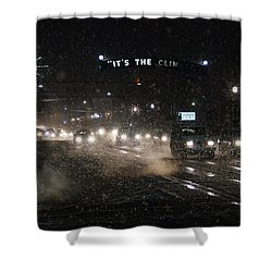 Its The Climate - Christmas Snow Shower Curtain by Mick Anderson