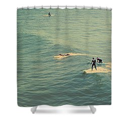 It's The Ride Shower Curtain by Laurie Search
