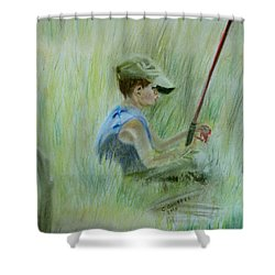 Ivan And The Red Rod Shower Curtain