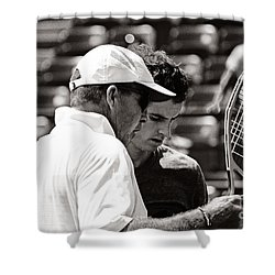 Ivan Lendl And Andy Murray  Shower Curtain by Nishanth Gopinathan