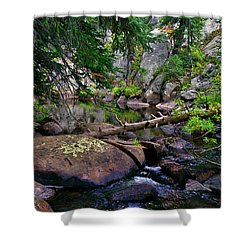 Shower Curtain featuring the photograph Ivanhoe Serenity by Jeremy Rhoades