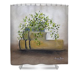 Shower Curtain featuring the painting Ivy League by Judith Rhue