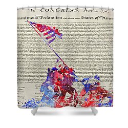 Iwo Jima Declaration Of Freedom Shower Curtain