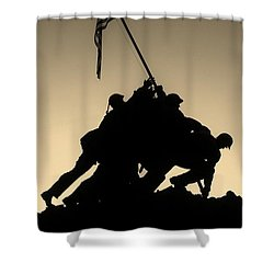 Iwo Shower Curtain by Robert Geary