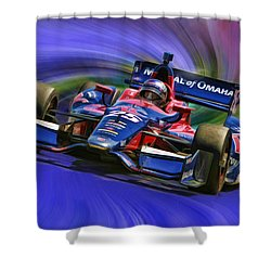 Izod Indycar Series Marco Andretti  Shower Curtain by Blake Richards