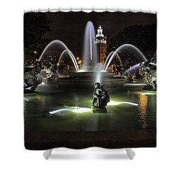 J C Nichols Fountain Shower Curtain