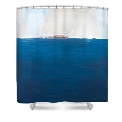 J Class Racing The Solent 2012  Shower Curtain by Lincoln Seligman