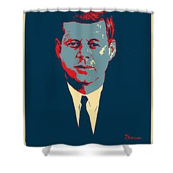 J F K In Hope Shower Curtain by Rob Hans