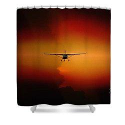 Jabiru Sunset Shower Curtain