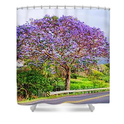 Jacaranda 4 Shower Curtain