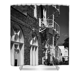 Jacaranda Hotel Fire Escape Shower Curtain