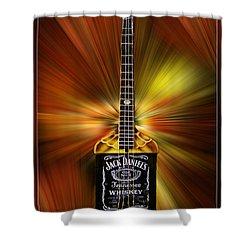 Jack Daniels Whiskey Guitar Shower Curtain