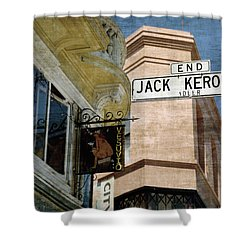 Jack Kerouac Alley And Vesuvio Pub Shower Curtain