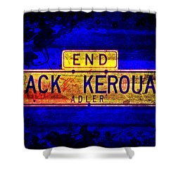 Jack Kerouac Alley Shower Curtain