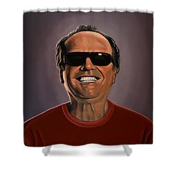 Jack Nicholson 2 Shower Curtain by Paul Meijering