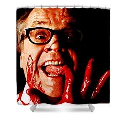 Jack Nicholson Painted From Photo Of Matthew Rolston Shower Curtain