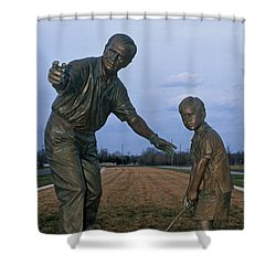 36u-245 Jack Nicklaus Sculpture Photo Shower Curtain