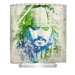 Jack Sparrow Shower Curtain by Aged Pixel
