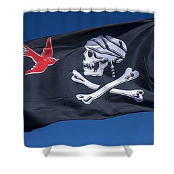 Jack Sparrow Pirate Skull Flag Shower Curtain by Garry Gay
