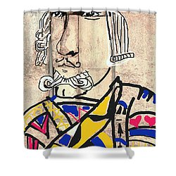 Jack The King Shower Curtain