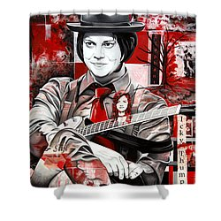 Jack White Shower Curtain by Joshua Morton