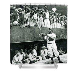 Jackie Robinson Signs Autographs Vintage Baseball Shower Curtain