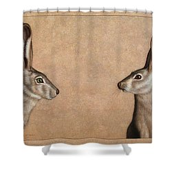 Jackrabbits Shower Curtain by James W Johnson