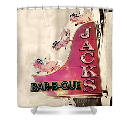 Jacks Bbq Shower Curtain