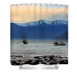 Shower Curtain featuring the photograph Jackson Bay South Westland New Zealand by Amanda Stadther