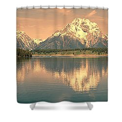 Jackson Lake Sunrise - Grand Teton Shower Curtain