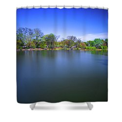 Jackson Park Shower Curtain by Jonah  Anderson