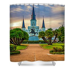 Jackson Square Cathedral Shower Curtain by Steve Harrington