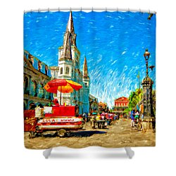 Jackson Square Painted Version Shower Curtain by Steve Harrington