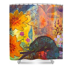 Jackson's Chameleon Shower Curtain by Robin Maria Pedrero