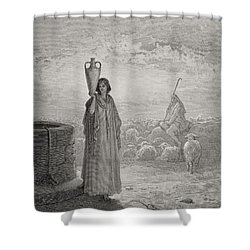 Jacob Keeping Laban's Flock Shower Curtain by Gustave Dore