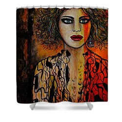 Jacquelyn Shower Curtain by Natalie Holland