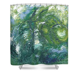 Jade Is The Color Of Your Energy Shower Curtain by Ania M Milo