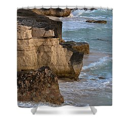Jagged Shore Shower Curtain