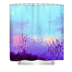 Jagged Sky Shower Curtain by Crystal Harman